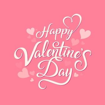 Hand drawn minimal valentine's day lettering card