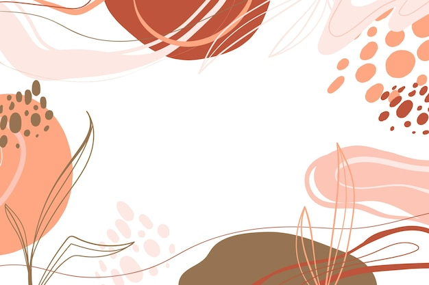 Hand drawn minimalist background