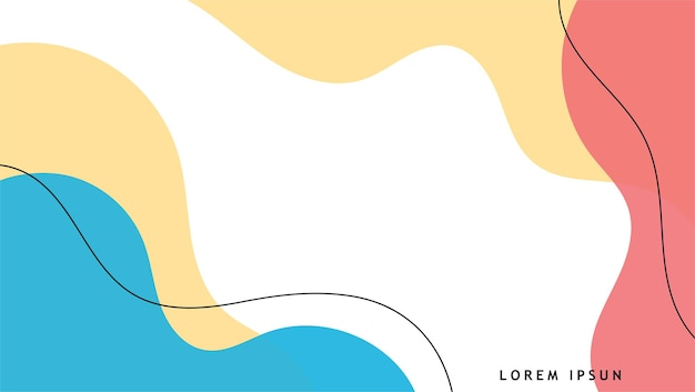 手描きのミニマリストの流体は背景を形作ります