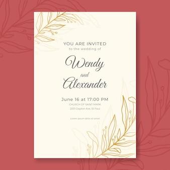 Ручной обращается минималистское свадебное приглашение