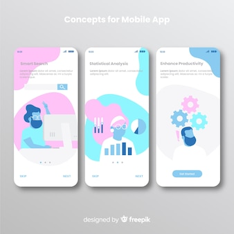 Hand drawn mobile app banner