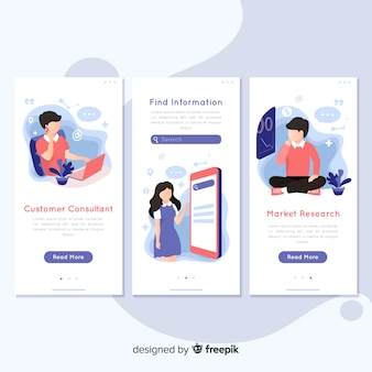 Hand drawn mobile app concept