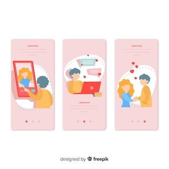 손으로 그린 모바일 앱 개념