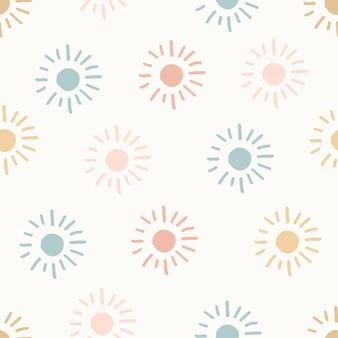 손으로 그린된 현대 낙서 완벽 한 패턴입니다. 파스텔 그런 지 배경입니다. 벡터 일러스트 레이 션