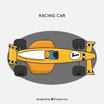 Hand drawn modern formula 1 racing car