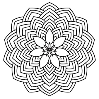 Ручной обращается монохромный восточный орнаментальный кружева круглая мандала