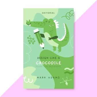 Copertina del libro di design monocolore disegnato a mano