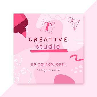 Post di instagram di design monocolore disegnato a mano