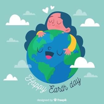 Ручной обращается день матери-земли фон