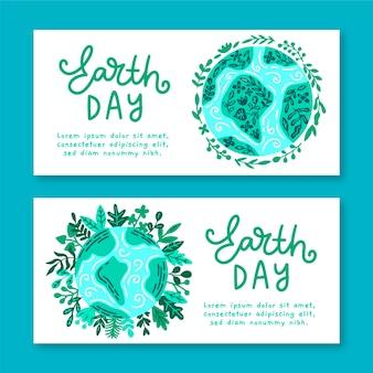 Нарисованный от руки баннер день матери-земли