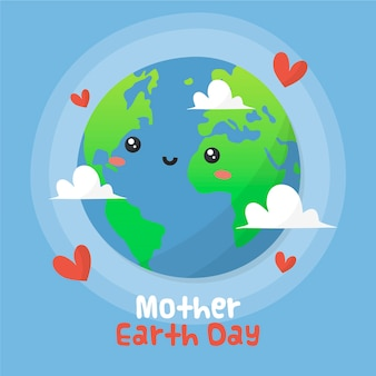 手描きの母地球の日の概念