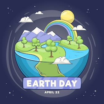 Hand-drawn mother earth day design