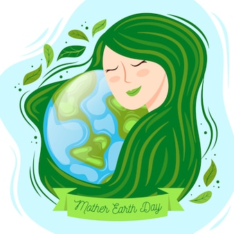 Hand-drawn mother earth day event design