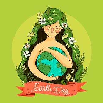 Hand-drawn mother earth day event
