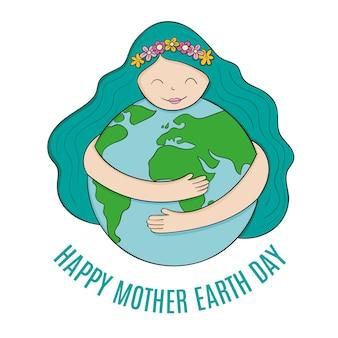 手描き母なる地球デーのイラスト