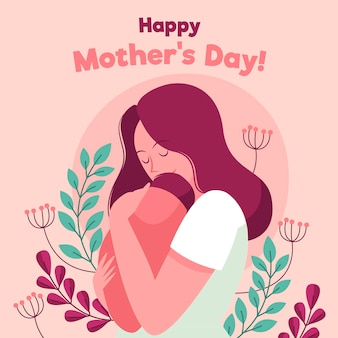 Hand drawn mother's day illustration