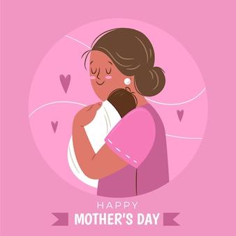 Нарисованная рукой иллюстрация дня матери