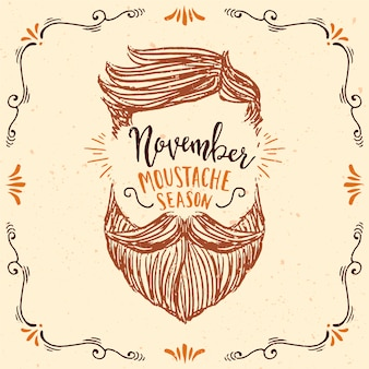 Hand drawn movember design