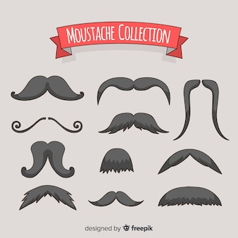 Hand drawn movember mustache pack collection