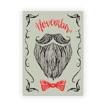 Hand drawn movember poster