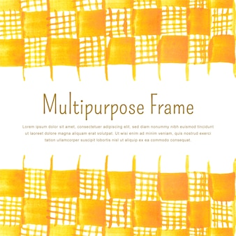 Hand drawn multi purpose frame background template with text space