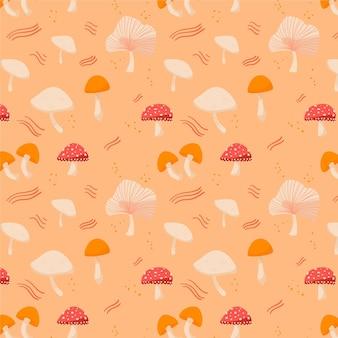 Ручной обращается грибной узор