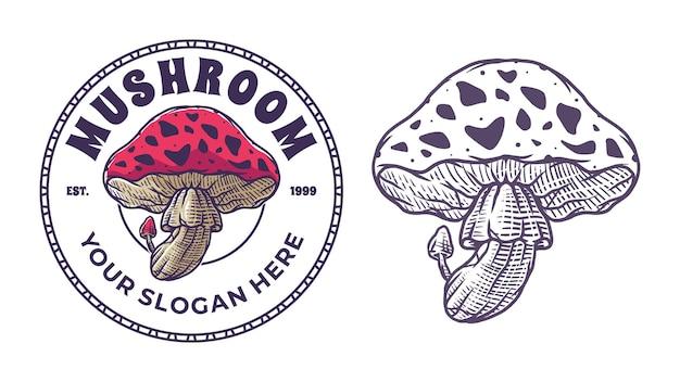 Hand drawn mushroom