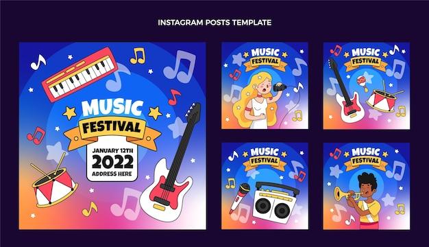Hand drawn music festival instagram post