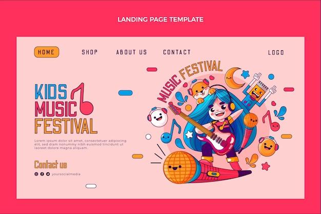 Hand drawn music festival landing page