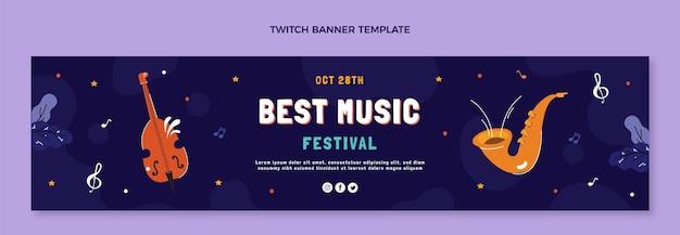Ручной обращается музыкальный фестиваль twitch баннер