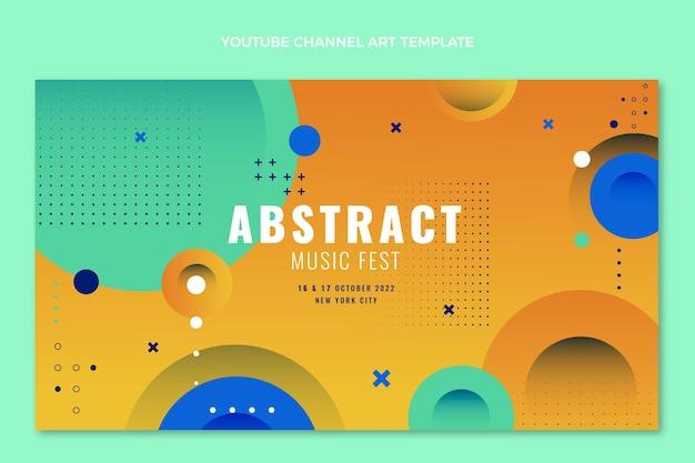 Нарисованный рукой канал youtube музыкального фестиваля