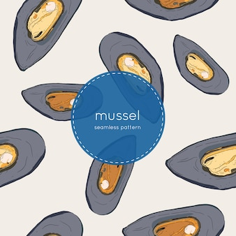 Hand drawn mussel