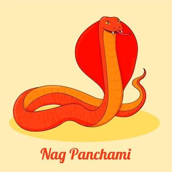 손으로 그린 nag panchami 그림
