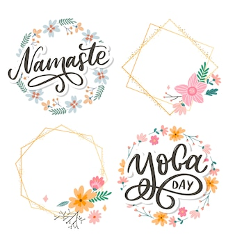 Hand drawn namaste lettering. positive quote.
