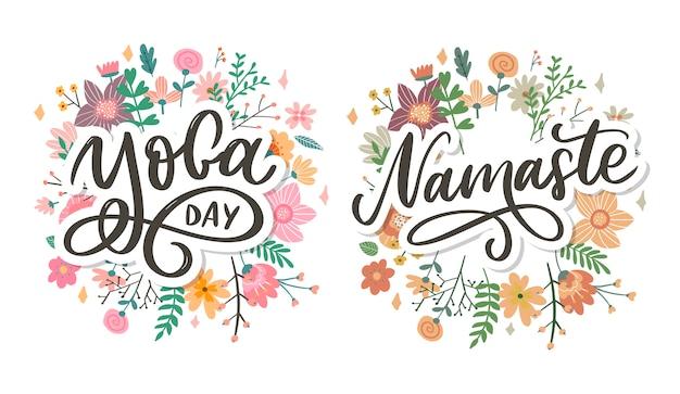 Hand drawn namaste lettering