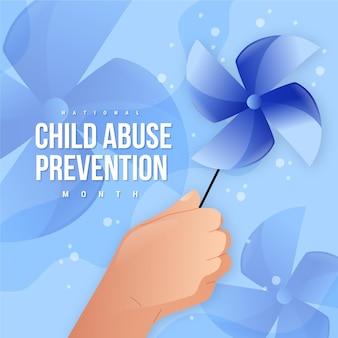 손으로 그린 국가 아동 학대 예방 달 그림