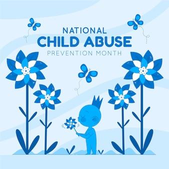 Нарисованная рукой иллюстрация месяца предотвращения жестокого обращения с детьми