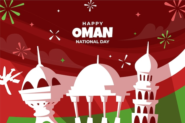 Hand drawn national day of oman background