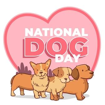 手描き全国犬の日のイラスト