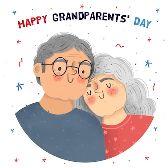 Hand drawn national grandparents day usa