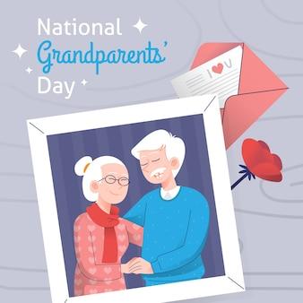 손으로 그린 국가 조부모의 날