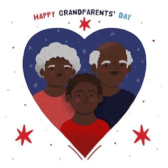 手描き全国祖父母の日