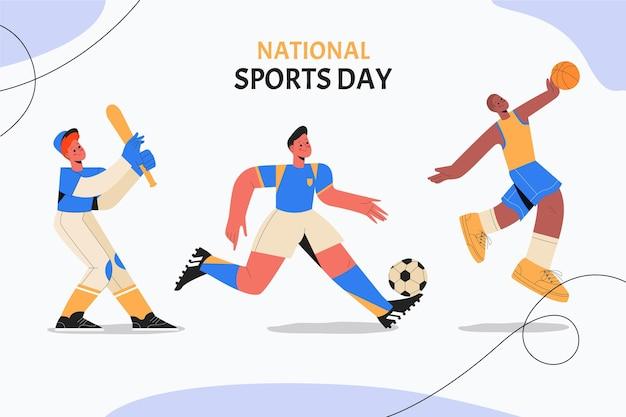 手描きの国民体育の日のイラスト
