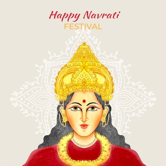 Hand drawn navratri background
