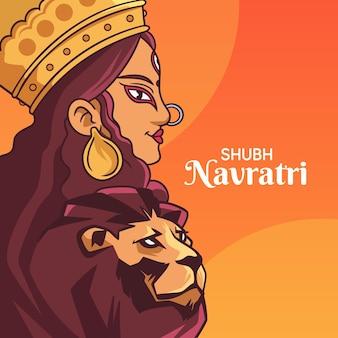 手描きのナヴラトリの概念