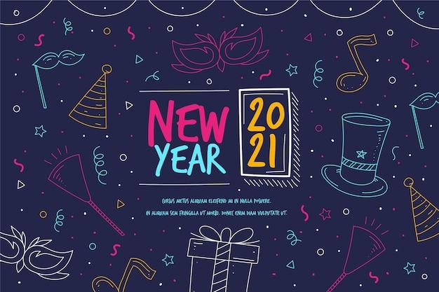 Ручной обращается новый год 2021 фон