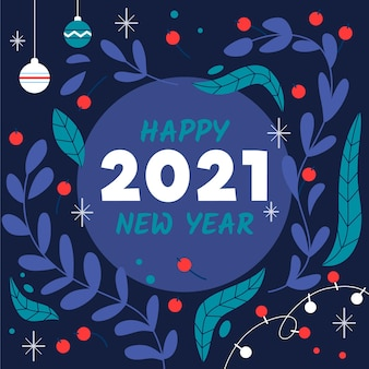 손으로 그린 새해 2021