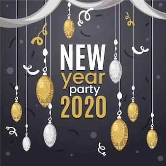 Hand drawn new year background