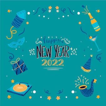 Hand drawn new year illustration
