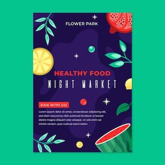 Volantino del mercato notturno disegnato a mano